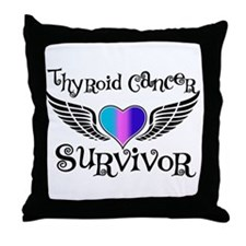 Thyroid Cancer Survivor Throw Pillow