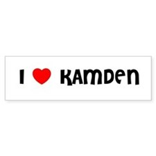 I LOVE KAMDEN Bumper Car Sticker