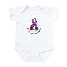 Flower Ribbon CROHNS Infant Bodysuit