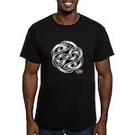 Celtic Yin Yang Men's Fitted T-Shirt (dark)