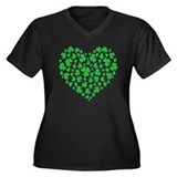 MY IRISH HEART Women's Plus Size V-Neck Dark T-Shi