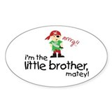 little brother shirt pirate Oval Decal