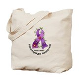 Flower Ribbon Fibromyalgia Tote Bag