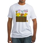 Bush Supporter Lemmings Fitted T-Shirt