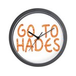 Go To Hades Wall Clock