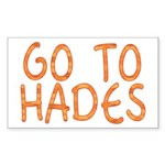 Go To Hades Rectangle Sticker