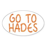 Go To Hades Oval Sticker