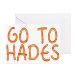 Go To Hades Greeting Cards (Pk of 20)