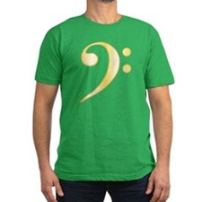 """Gold"" Bass Clef T"