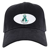 Flower Ribbon OVARIAN CANCER Baseball Hat