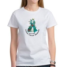 Flower Ribbon OVARIAN CANCER Tee