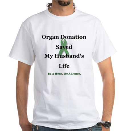 Husband Transplant White T-Shirt