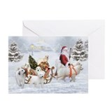 Gr.Pyrenees &amp;amp; Santa, Greeting Cards (Pk of 10)