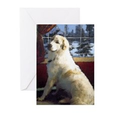 Great Pyrenees Cards (Pk of 10), Waiting for Santa