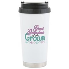 Great Grandma of the Groom Ceramic Travel Mug
