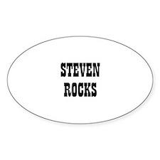 STEVEN ROCKS Oval Decal