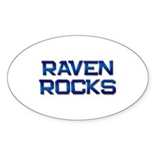 raven rocks Oval Decal
