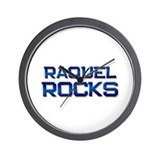 raquel rocks Wall Clock