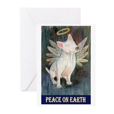 Bull Terrier Angel Greeting Cards (Pk of 10)