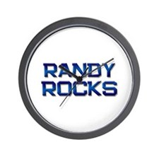 randy rocks Wall Clock