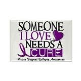 Needs A Cure EPILEPSY Rectangle Magnet
