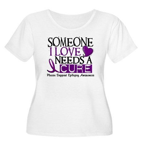 Needs A Cure EPILEPSY Women's Plus Size Scoop Neck