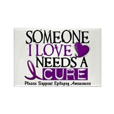 Needs A Cure EPILEPSY Rectangle Magnet (10 pack)
