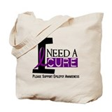I Need A Cure EPILEPSY Tote Bag