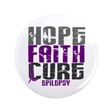 "HOPE FAITH CURE Epilepsy 3.5"" Button"