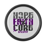 HOPE FAITH CURE Epilepsy Large Wall Clock