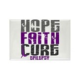 HOPE FAITH CURE Epilepsy Rectangle Magnet (10 pack