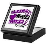 PEACE LOVE CURE Epilepsy (L1) Keepsake Box