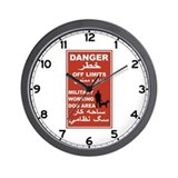 Danger Off Limits, Afghanistan Wall Clock