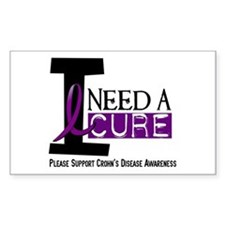 I Need A Cure CROHN'S Rectangle Decal