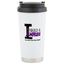 I Need A Cure CROHN'S Ceramic Travel Mug