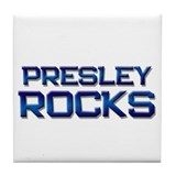 presley rocks Tile Coaster