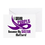 I Wear Purple (Sister) 33 PC Greeting Cards (Pk of