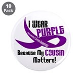 I Wear Purple (Cousin) 33 PC 3.5&quot; Button (10 pack)