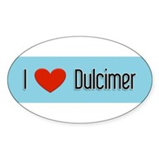 Dulcimer Gift Oval Decal