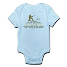 Humorous Fishing Infant Bodysuit