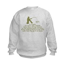 Humorous Fishing Kids Sweatshirt