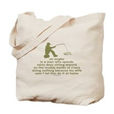 Humorous Fishing Tote Bag