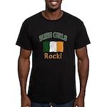 Irish Grils Rock Men's Fitted T-Shirt (dark)