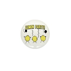 Lemon Party Mini Button