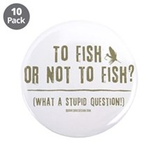 "To Fly Fish 3.5"" Button (10 pack)"