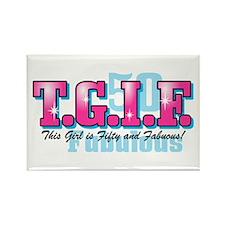 TGIF 50th Birthday Rectangle Magnet