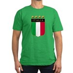 Italian 4 Star flag Men's Fitted T-Shirt (dark)