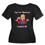Yep. I'm 'Merican Women's Plus Size Scoop Neck Dar