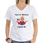 Yep. I'm 'Merican Women's V-Neck T-Shirt