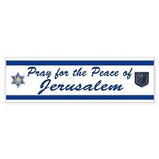 Pray For Jerusalem 2 Bumper Bumper Sticker